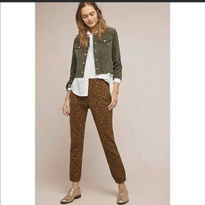 SANCTUARY Anthropologie Leopard Jogger Pant XS